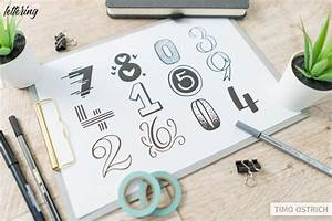 Lettering Numbers  How To Draw Them Properly    Different