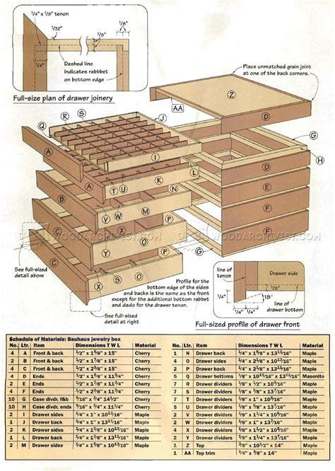 bauhaus jewelry box plans woodarchivist