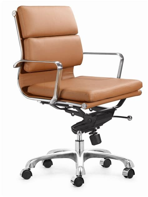 executive soft pad office chair grey