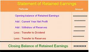 Statement of Retained Earnings | Accounting Education