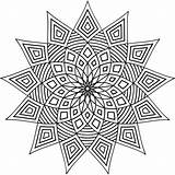 Geometric Coloring Pages Printable Patterns Shapes Designs Adult Pattern Simple Colouring Cool Mandala Adults Print Geometry Abstract Colour Books Star sketch template