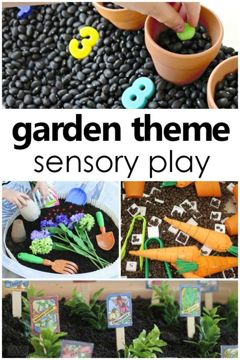 preschool garden ideas gardening sensory bins 755