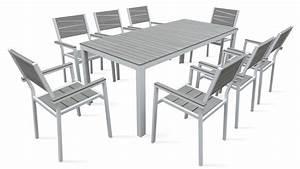 Table Aluminium De Jardin : table de jardin 8 places aluminium polywood ~ Teatrodelosmanantiales.com Idées de Décoration
