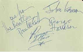 33 signatures including a page signed and inscribed in Paul McCartney ...