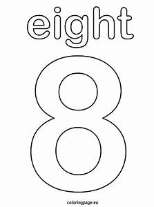 Free coloring pages of number eight