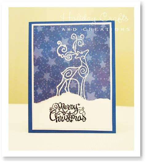 christmas cards embossed reindeer