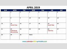 2019 Monthly Calendar With Holidays Calendar 2019 Printable