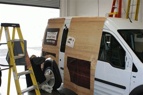 ford transit connect woody wrap los alamitos