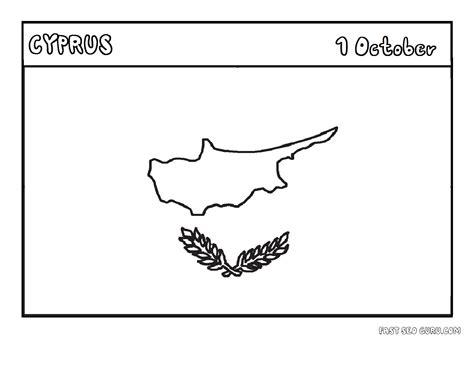 printable flag  cyprus coloring page printable coloring pages  kids