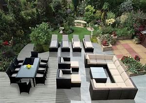 Lounge Sofa Outdoor : genuine 29 piece ohana wicker patio furniture set outdoor sectional sofa dining and chaise ~ Frokenaadalensverden.com Haus und Dekorationen
