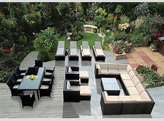 Genuine 29Piece Ohana Wicker Patio Furniture Set Outdoor