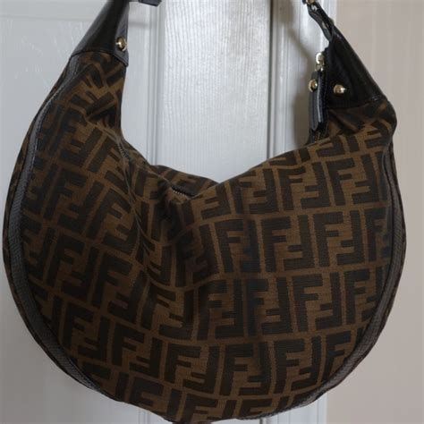 fendi bags zucca brown monogram canvas bag poshmark