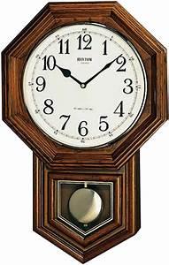Horloge Murale Bois : horloge murale quartz entourage bois balancier ~ Teatrodelosmanantiales.com Idées de Décoration