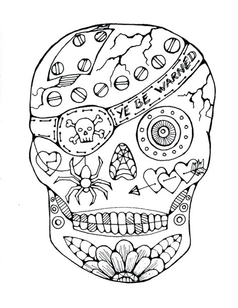 Unique Skull Mandala Coloring Pages Collection Printable