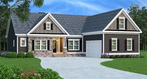 New One Story House Plans by Ranch Plan 1732 Square 3 Bedrooms 2 Bathrooms Lanier