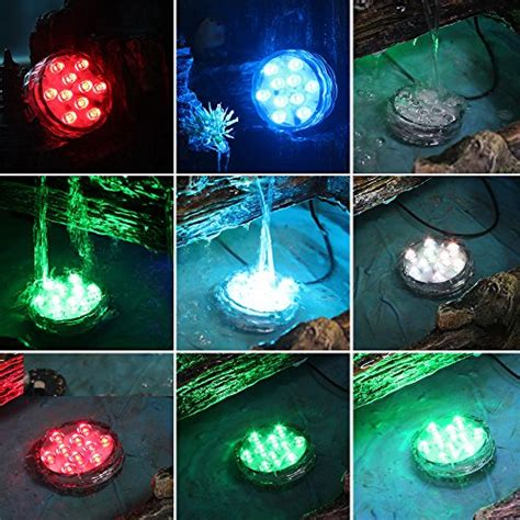 submersible pond lights hallomall multicolor submersible led lights underwater