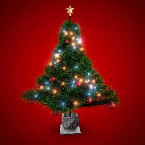 c4d christmas tree needles cedar