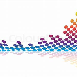 Abstract graphic equalizer or audio waveform illustration ...
