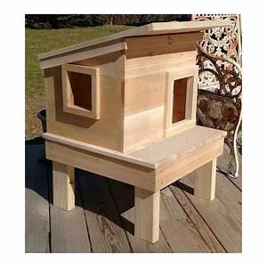 Outdoor, Cedar, Wood, Cat, House, Shelter
