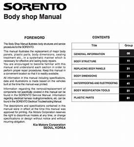 Kia Sorento Body Service And Repair Manual - Zofti