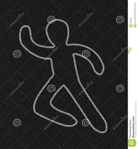 chalk outline  person royalty  stock photography