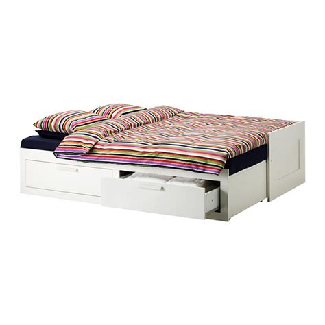 canapé convertible 160x200 brimnes day bed frame with 2 drawers white 80x200 cm ikea