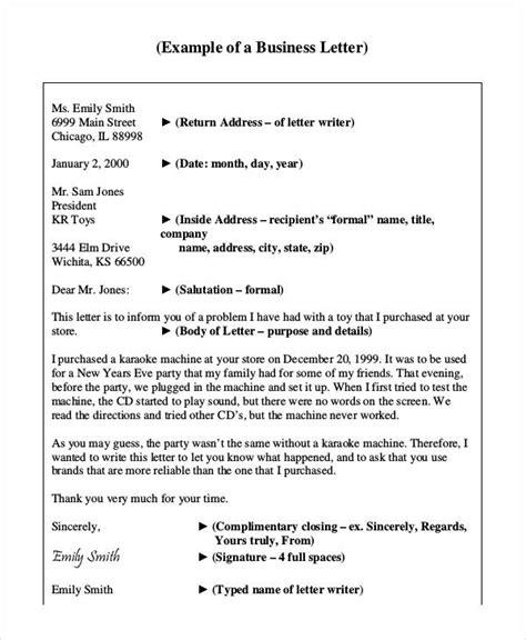 sample letters   sample  format