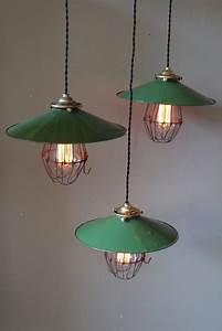 Abat Jour Vert : abat jour emaill vert lampe industrielle americaine ~ Teatrodelosmanantiales.com Idées de Décoration