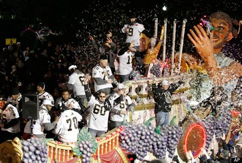 Saints Super Bowl Parade Pictures Photos From New Orleans