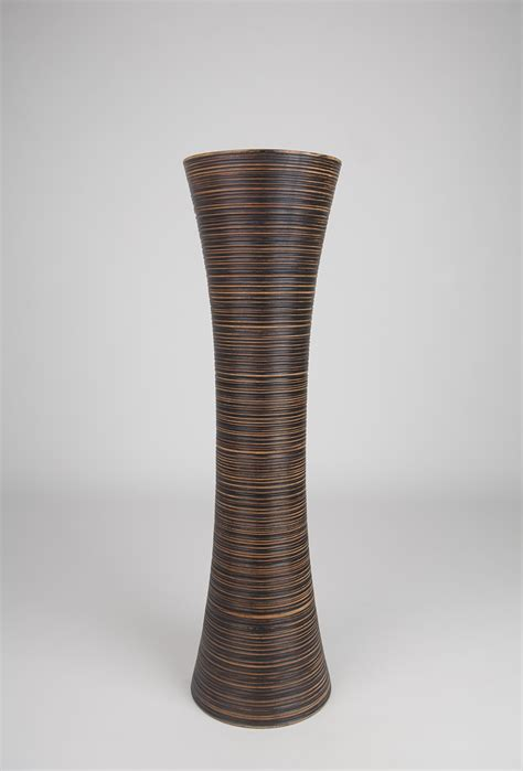 brown tall floor vase 36 inches wood brown leewadee