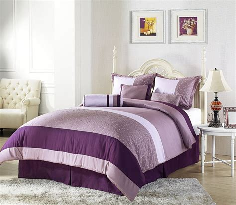 Master Bedroom Design Purple Color Interior With Wall