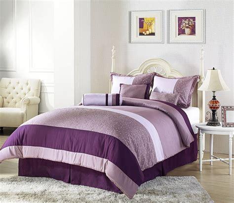 Master Bedroom Design Purple Color Interior With Wall