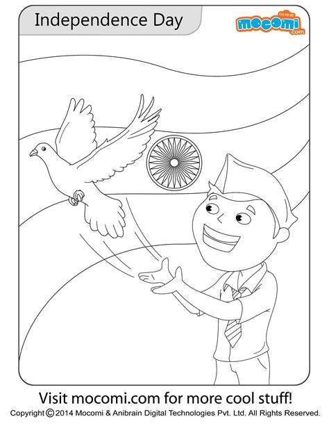 independence day colouring page colouring pages  kids