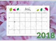 Calendario Almanaque Planificador Mensual 2018