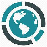 Icon Diagram Global Geography Globe Statistics Total