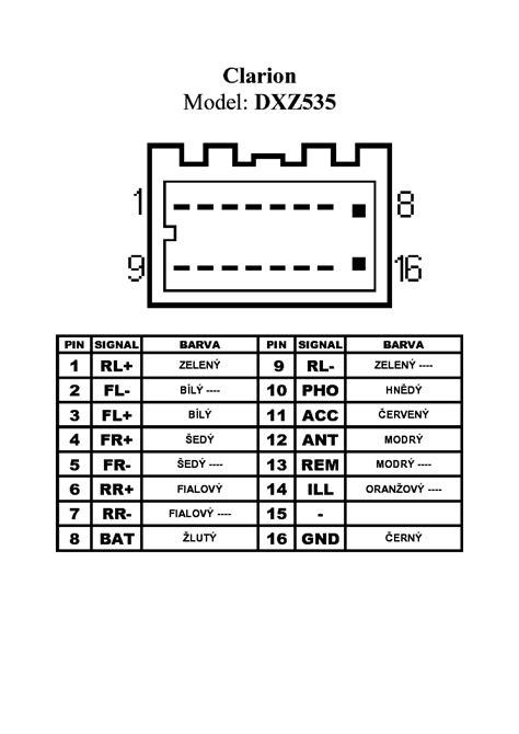 clarion dxz535 pinout connector service manual