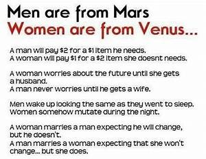 Men are from Mars and women from Venus | Men from Venus ...