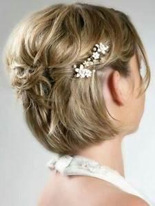 Accessoires Cheveux Courts : coiffure de ceremonie cheveux court ma coupe de cheveux ~ Preciouscoupons.com Idées de Décoration
