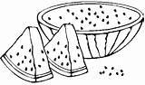 Watermelon Coloring Colouring Fruit Jeffersonclan Preschool sketch template