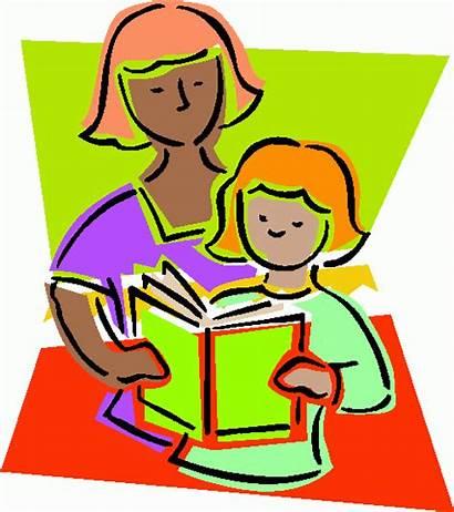 Teacher Clipart Books Reading Clip Read Children