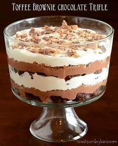Recipe: Toffee Brownie Chocolate Trifle
