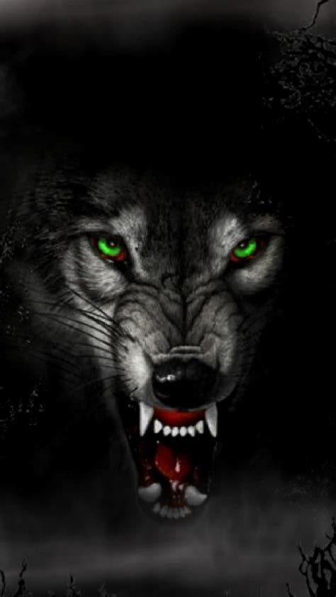 Angry Wolf Wallpaper Black angry wolf 1080 x 1920 wallpapers 4166987 mobile9