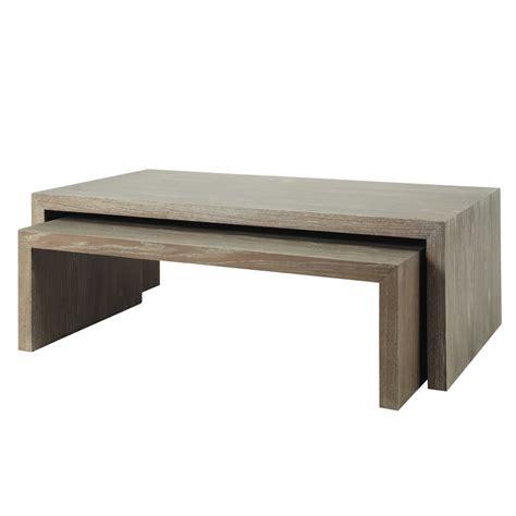 deco chambre bebe fille tables basses gigogne en bois grises l 115 cm à l 130 cm
