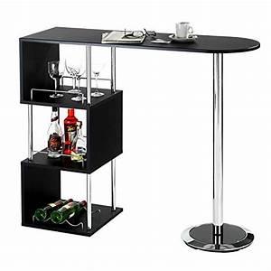 IDIMEX Table Haute De Bar VIGANDO Mange Debout Comptoir
