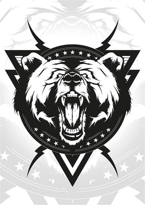 Angry bear/T-shirt design on Behance