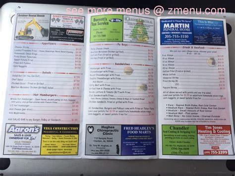 menu  kountry kitchen restaurant clanton