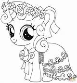 Spoon Coloring Pony Pages Getcolorings Silver sketch template