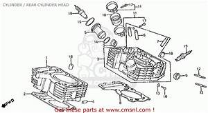 Honda Vt750c Shadow 1983  D  Usa Cylinder    Rear Cylinder Head