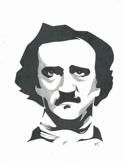 Poe Edgar Allan Clipart Clip Drawing Drawings