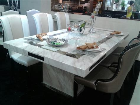 malia  marble dinning table fortune furniture